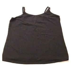 Lane Bryant Black Knit Cami w/ Adjustable Straps